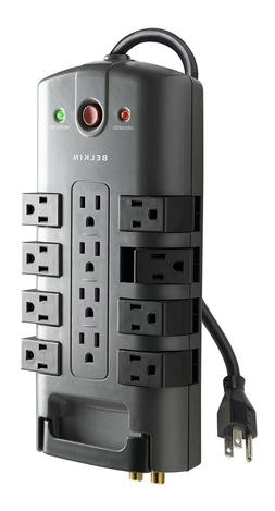 Belkin 12-Outlet Pivot-Plug Power Strip Surge Protector with