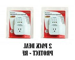 2 Pack 1800 Watts Power Surge Protector AC Voltage Brownout