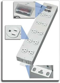 Tripp Lite 4 Outlet Bench & Cabinet Power Strip, 12 in. Leng