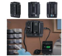 CyberPower 6 Outlet 1200J Surge Protector with 2 USB Charge