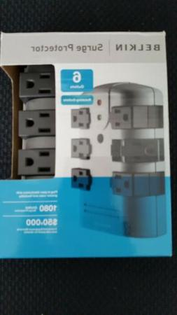 BELKIN 6-OUTLET PIVOT-PLUG WALL MOUNT SURGE PROTECTOR NEW /