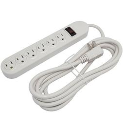 Otimo 6-Outlet Power Strip with 10 Foot Power Cord and LED O
