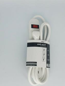 6outlet pwr strip telephone