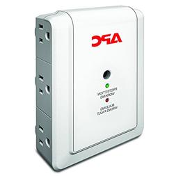 APC 6-Outlet Wall Surge Protector with Telephone Protection
