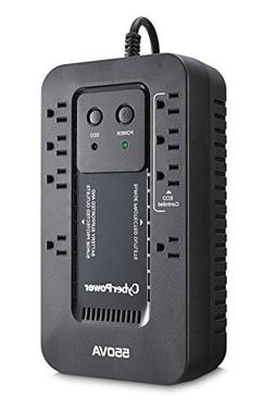 CyberPower EC550G Ecologic UPS System, 550VA/330W, 8 Outlets