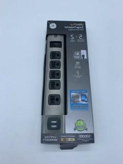 General Electric 30572 5-Outlet Surge Protector with 2 USB P