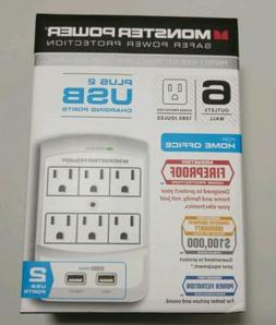 Monster Power - Home Office 650 USB, 6 outlets and 2 USB con