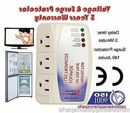 CAP-1153 Appliance New Voltage & Surge Protector 3 Outlets /