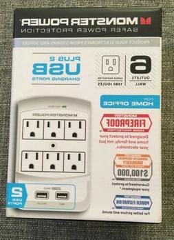 Monster Cable Core Power 650 USB Wall Outlet Surge Protector