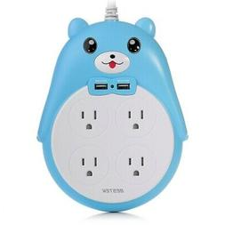 BESTEK Cute Surge Protector, 4-Outlet Surge Protector Power