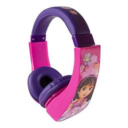 Dora & Friends 30362 Kid Safe Over-The-Ear Headphone with Vo