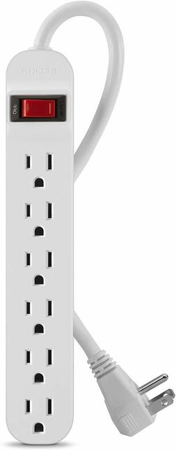 BELKIN F9P609-05R-DP 6-OUTLET POWER STRIP WITH RIGHT-ANGLE C