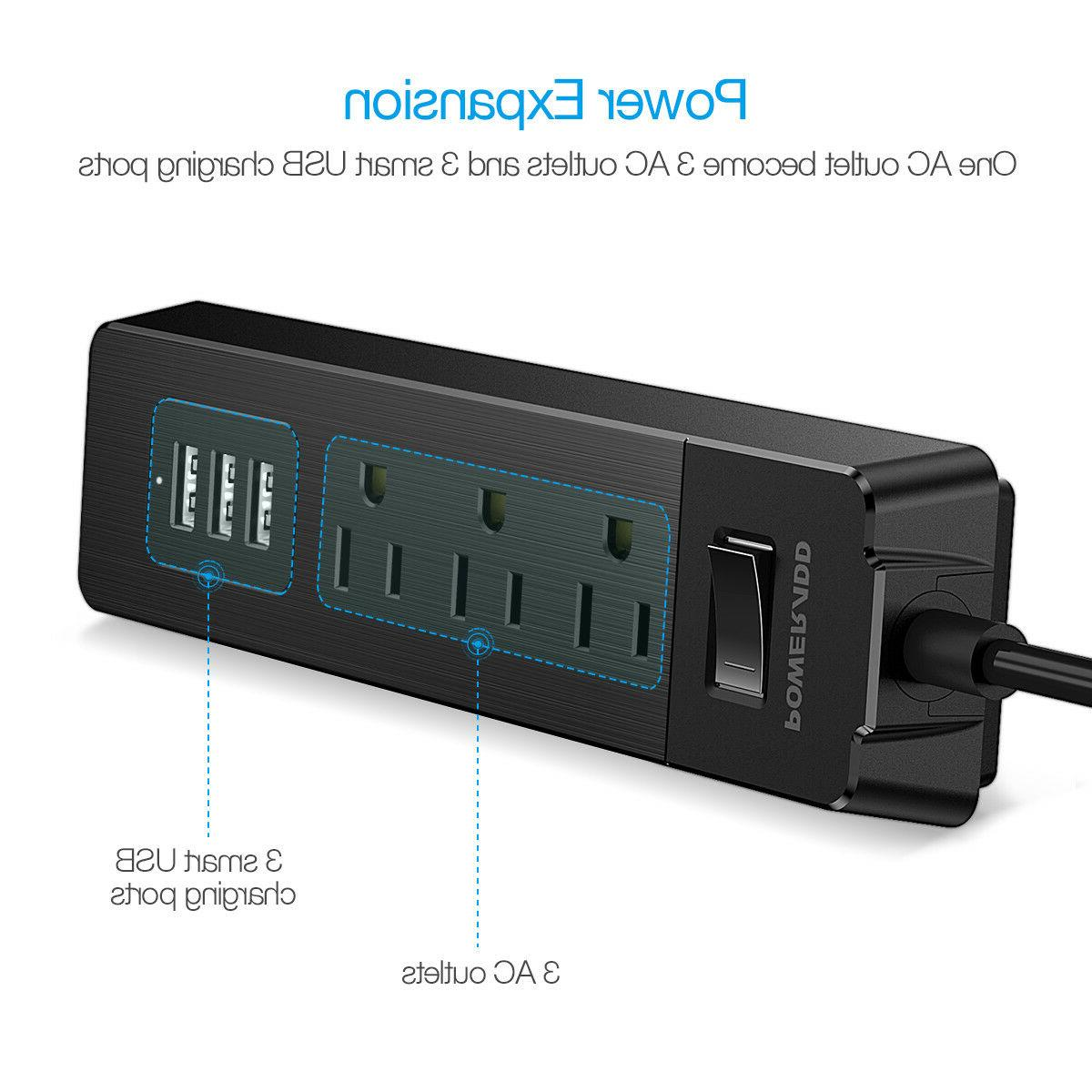 5FT 4 Port 3 Power Strip With Protector