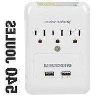 3 Outlet Power Surge Protector Wall Tap w/ 2 USB Ports - 540