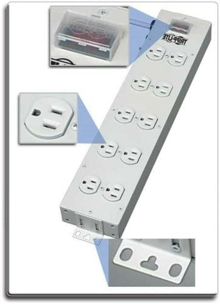 4 outlet bench and cabinet power strip