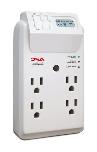 Apc 4-outlet Surge Protector Wall Tap With Lcd Timer