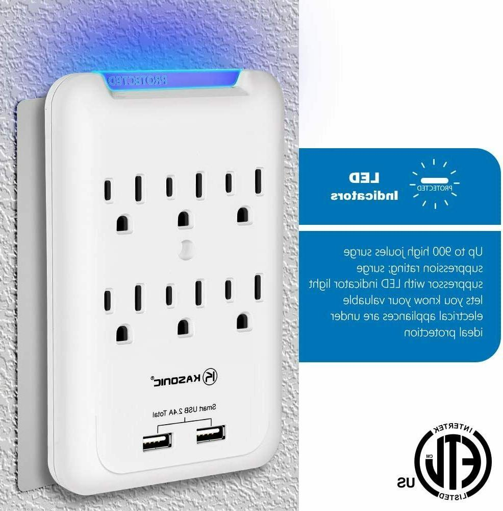 6 Protector with 2 USB Ports Adapter