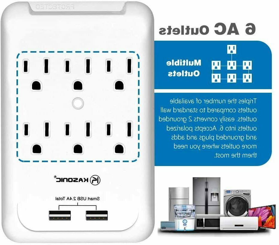 6 with USB Charger Ports