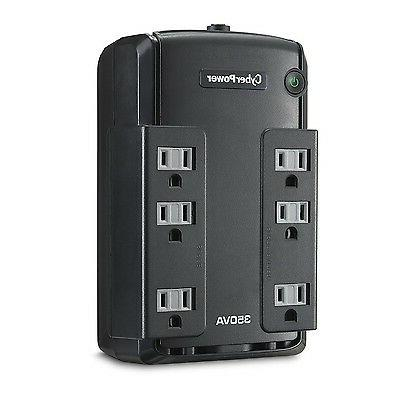 CyberPower CP350SLG Standby UPS System, 350VA/255W, 6 Outlet