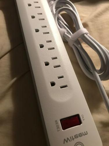 BRAND Witeem Surge Protector Power 6 Outlets