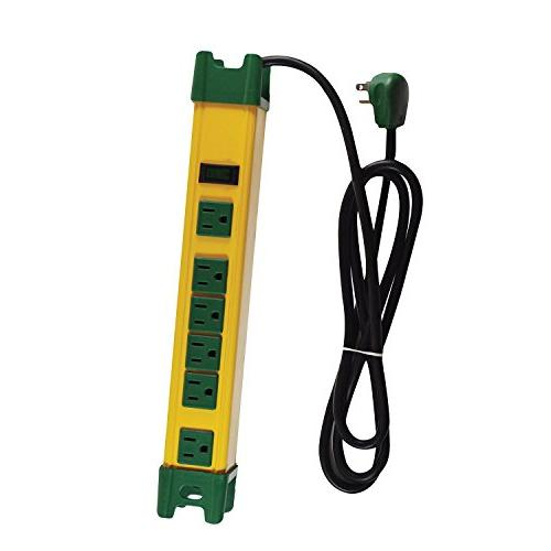 GoGreen Power GG-26114 - 6 Outlet Metal Surge Protector, Yel