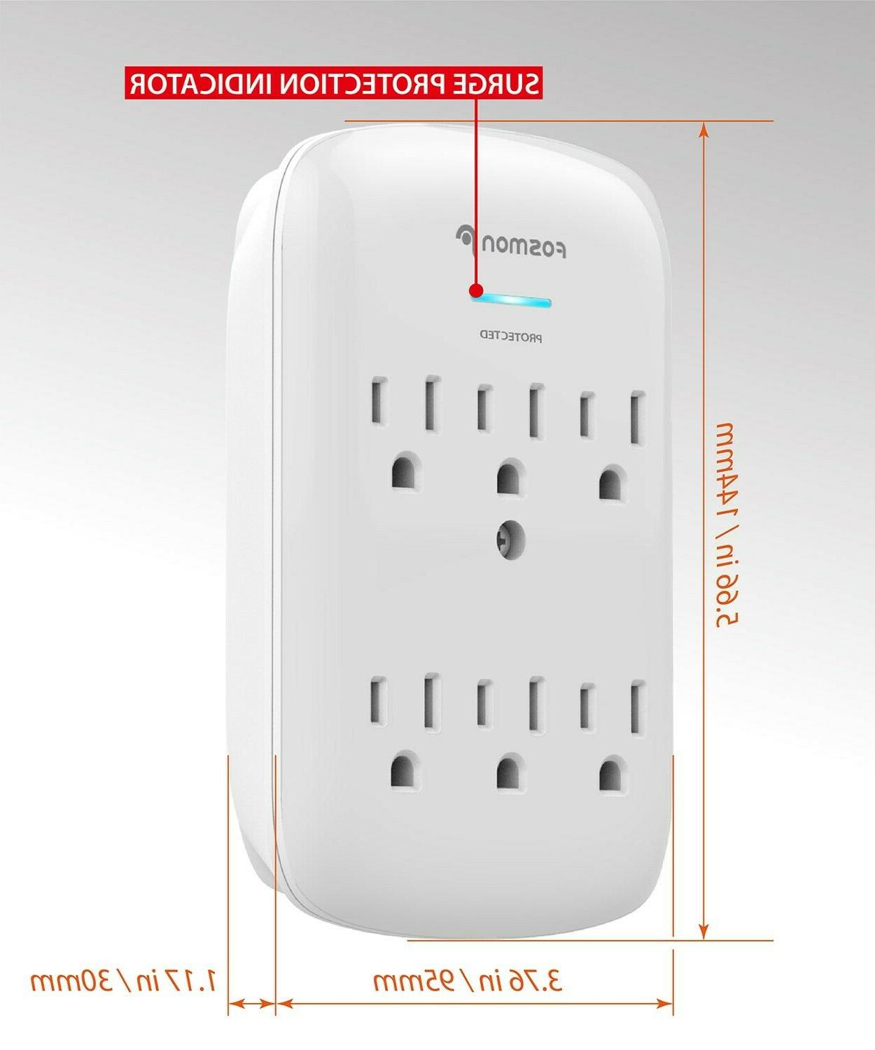 Fosmon Outlet Protector Multi Adapter Tap