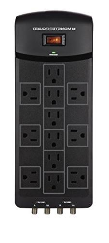 Monster 121871-00 | 12 Outlet Surge Protector with Fireproof