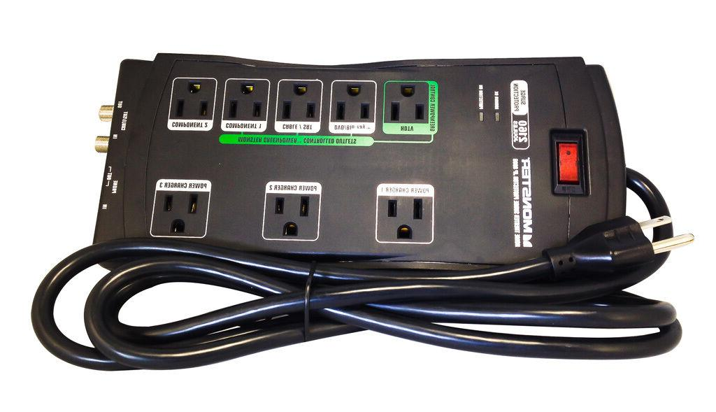 MONSTER POWER MP JP 800G 8-Outlet Just Power It Up 800G Surg