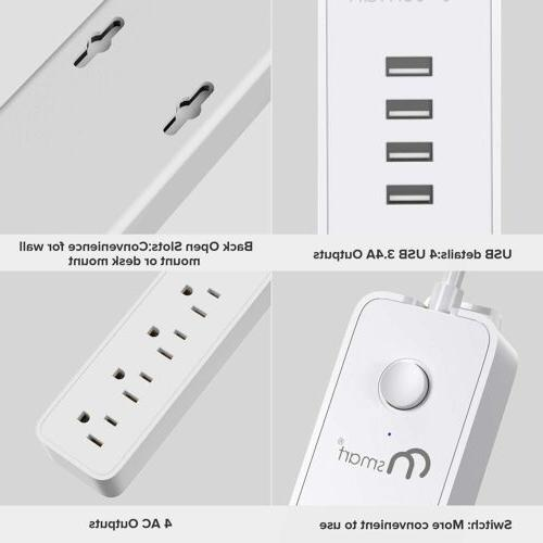 Power Strip Protector 4 Charging Extension