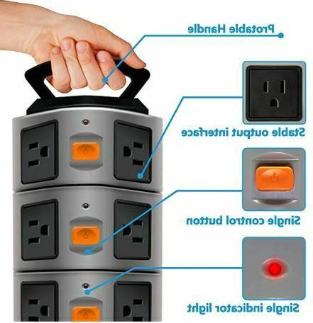 Power Strip Product Surge Electric Station,14Outl
