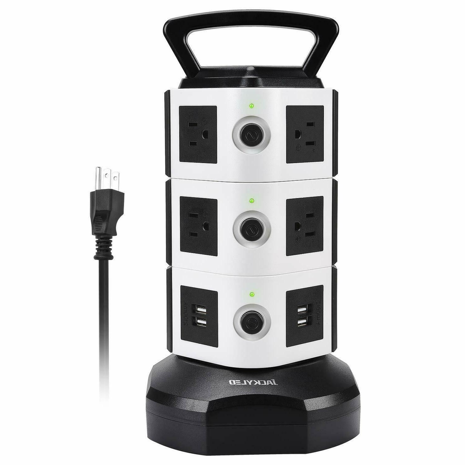 Power Strip Tower Surge Protector Electric Charging Station