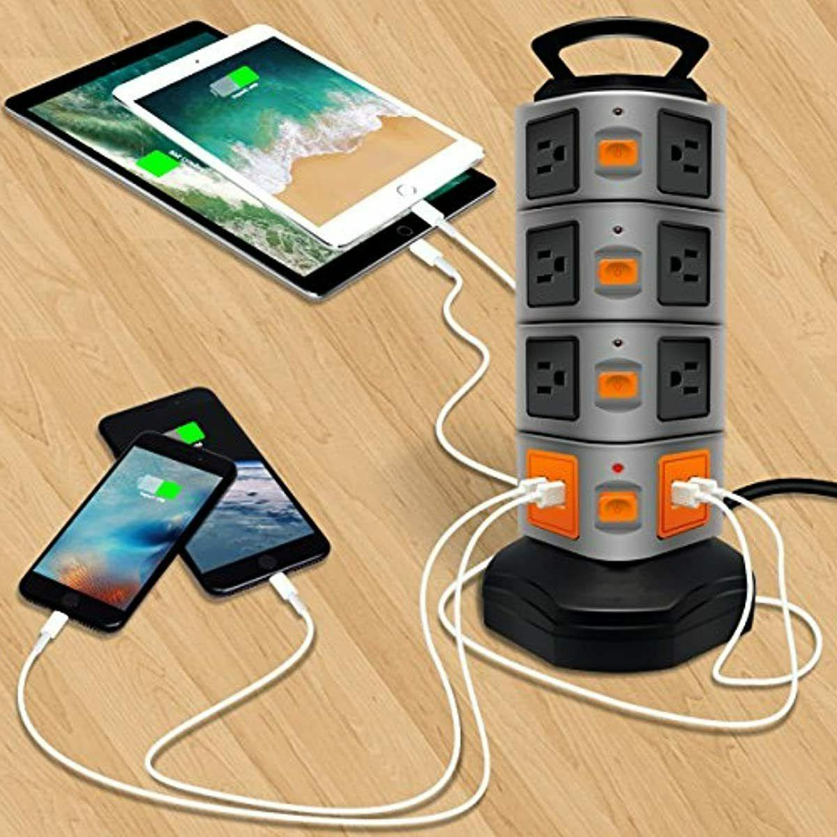 Power Strip Protector Electric 14 Outlet 6 ft