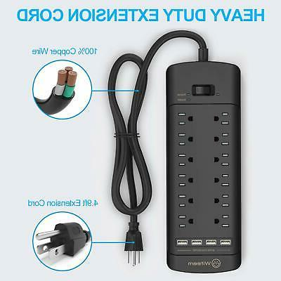 Power Strip,Witeem Surge with 12-Outlet