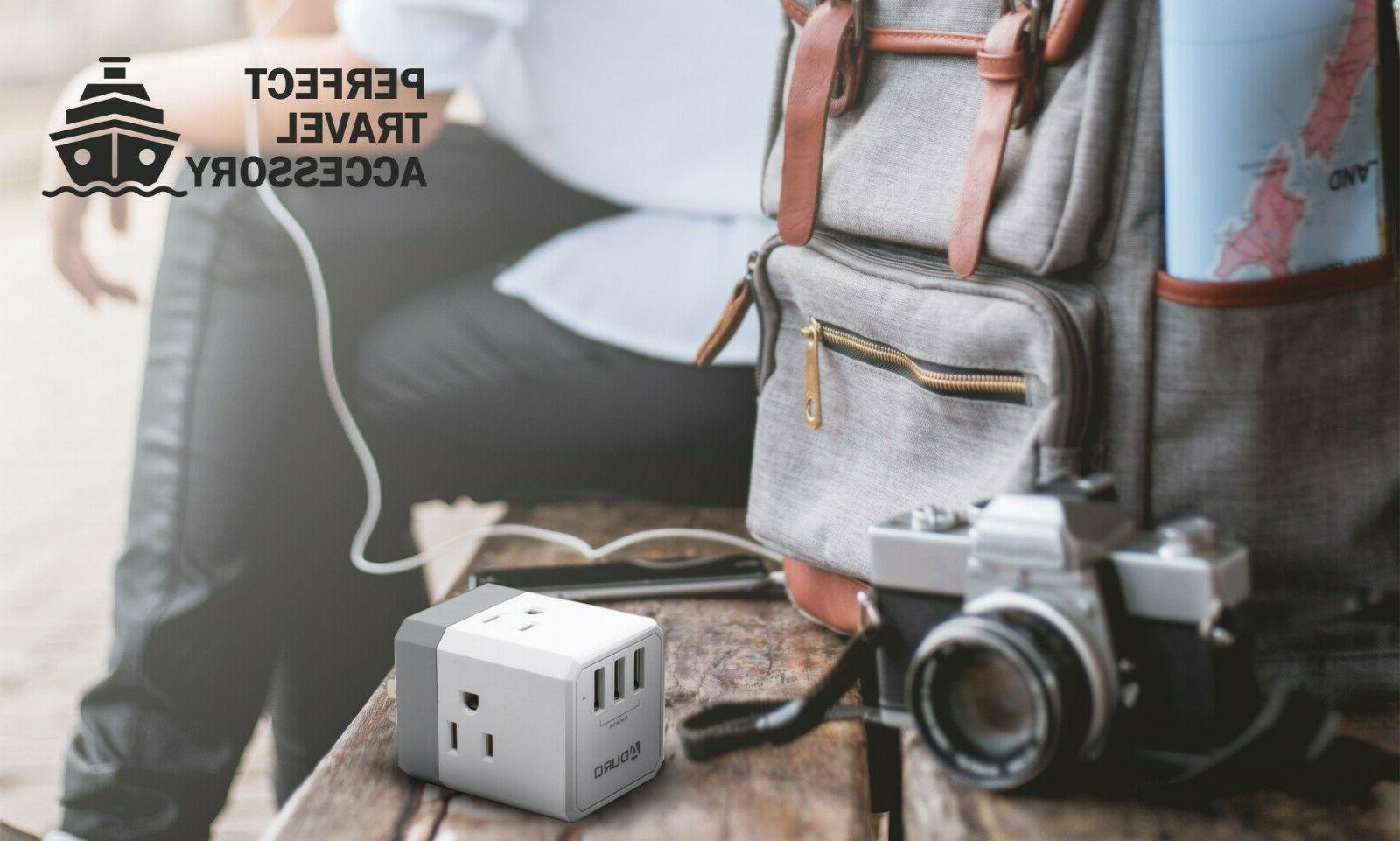 Aduro PowerUp Outlet USB Charging Station Portable Travel