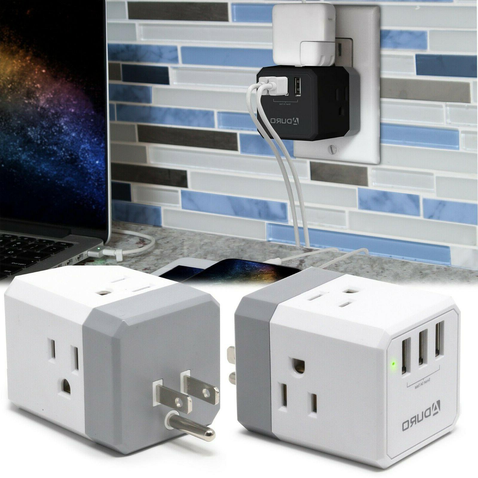 powerup squared 3 outlet and 3 usb