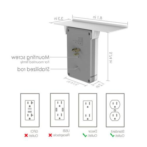Socket Protector Home 6 Extender Outlet USB Port