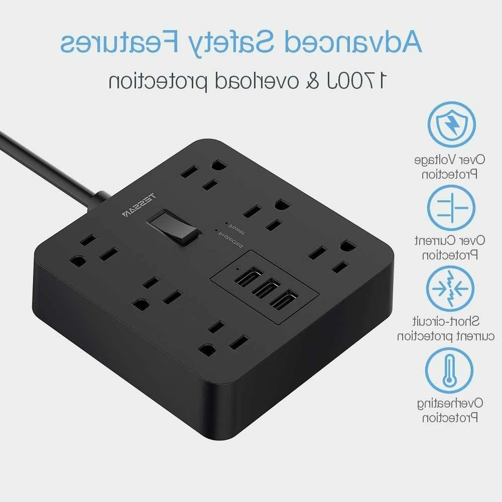 Surge Protector Extension Cord,3 USB