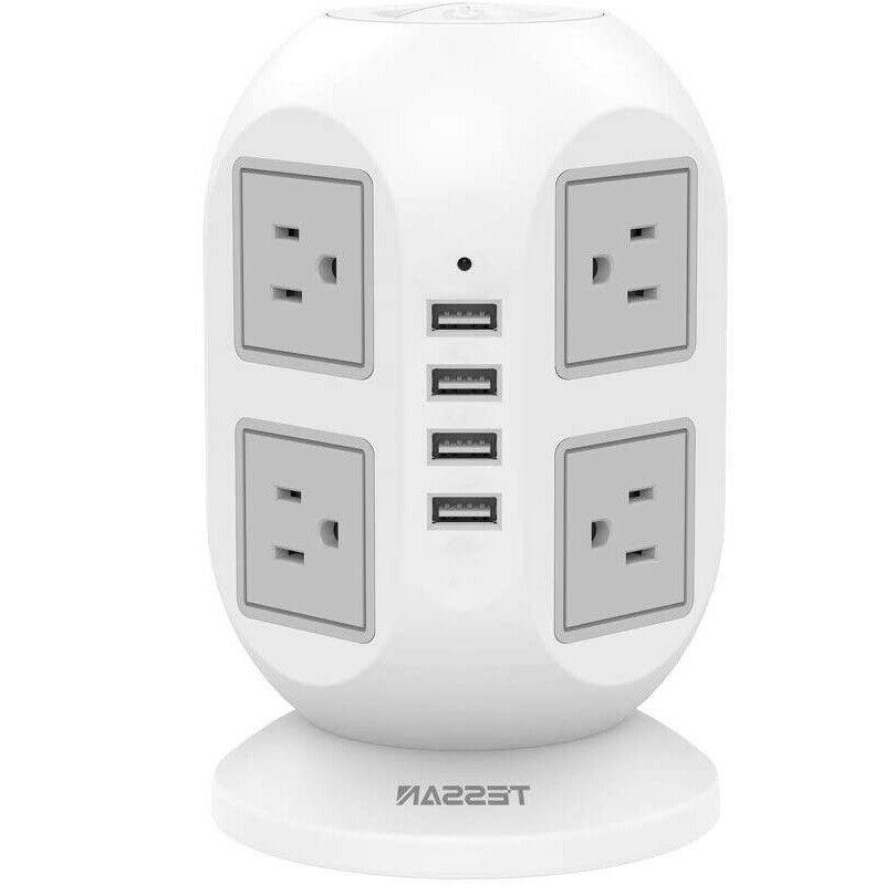 TESSAN Surge Protector Power Strip 4 USB Port and 8 AC Outle