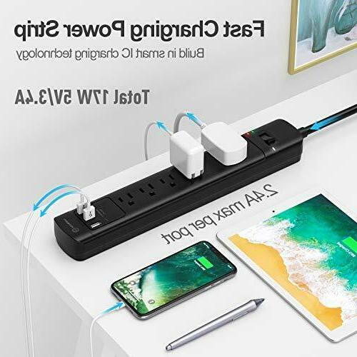 Surge Protector with Ports, Witeem 5 Outlets USB