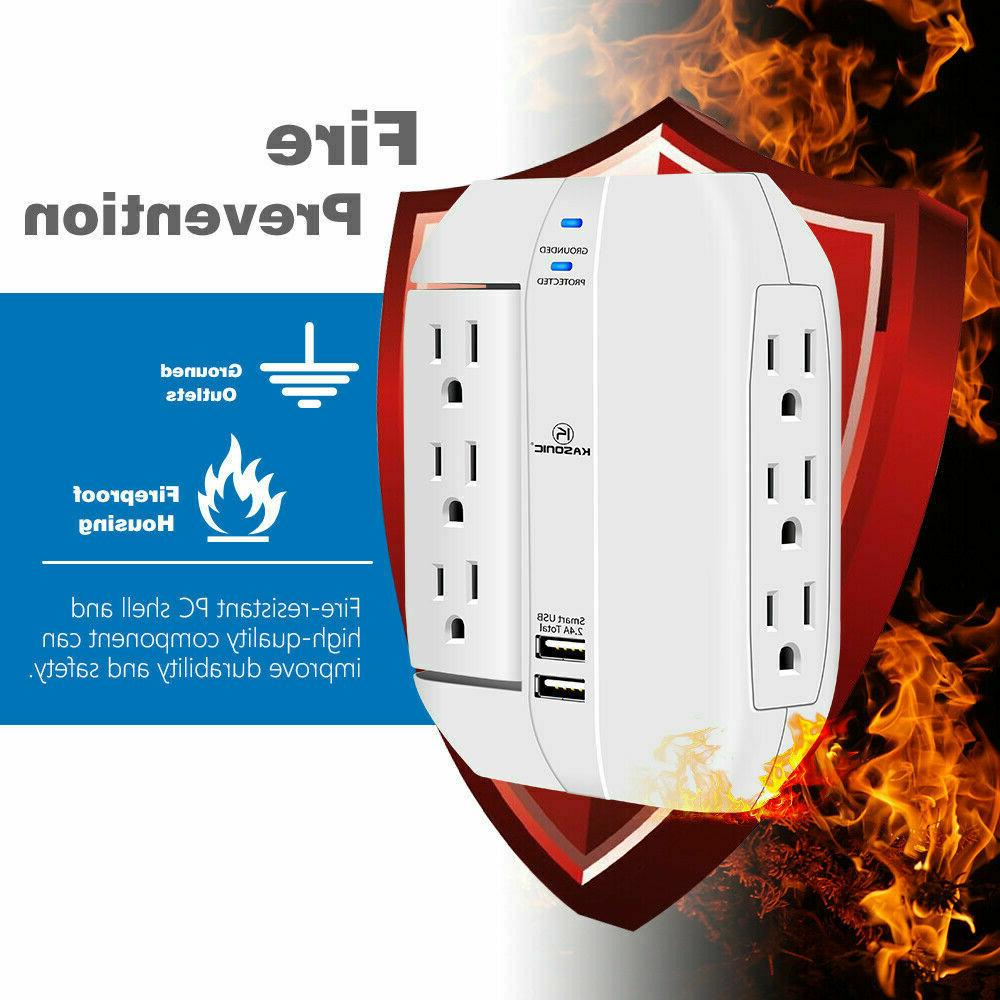 Wall Outlet 6 2.4A Ports, Joule