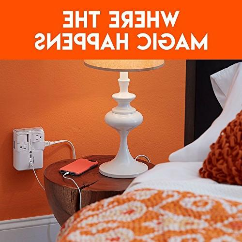 ECHOGEAR Protector with AC Outlets 2 Ports Joules of Surge Protection & On Outlets Gear & Capacity