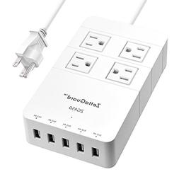 Zettaguard Mini 4-Outlet Travel Power Strip/Surge Protector