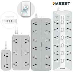 Power Strip Surge Protector with USB Ports Long Cord Multi O