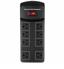 Monster Power Strip Essential MP ME 800 BX Surge Protector 8