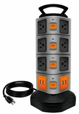 power strip tower surge protector electric charging