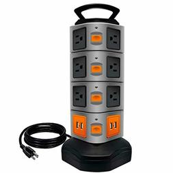 Power Strip Tower Surge Protector Electric Charging Station,