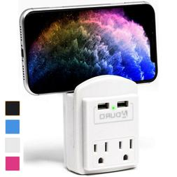 Aduro Surge 2 USB 2 Outlet Charging Station Wall Charger Pho