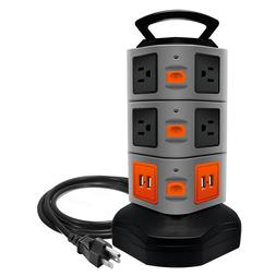 Surge Protector Power Strip with 10 outlets 4 USB Ports 6 ft