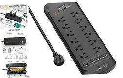 Surge Protector with USB , Witeem 12 Outlets Power Strip and