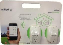 New Sealed BELKIN WeMo SWITCH 2 Pack iPHONE HOME REMOTE CONT